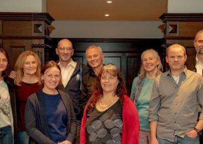 von links: Michaela Bischof, Sibylle Reiter, Angelina Luister, Dr. Stefan Hülmeyer, Rainer Tief, Ulrike Peters, Johanna Gruber, Matthias Francke und Dr. Andreas Kyek.